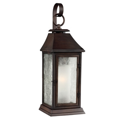 Feiss Lighting Seeded Glass Outdoor Wall Light Copper Feiss Lighting OL10601HTCP
