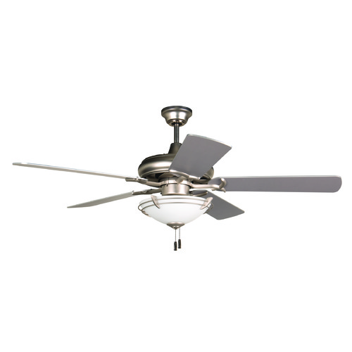 Craftmade Lighting Craftmade Lighting Civic Brushed Satin Nickel Ceiling Fan with Light K11213