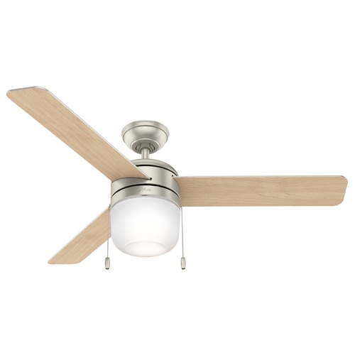 Hunter Fan Company Hunter Ceiling Fan With Light 52 inch Acumen in Matte Nickel 59405