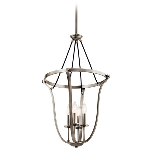 Kichler Lighting Thisbe 4-Light Classic Pewter Pendant with Exposed Bulbs 43535CLP