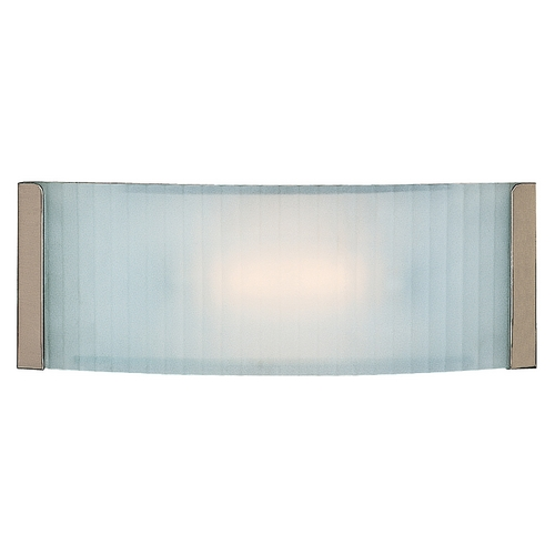 Access Lighting Modern Bathroom Light with White Glass in Brushed Steel Finish 62041-BS/CKF