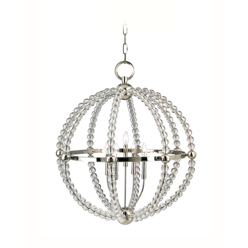 Hudson Valley Lighting Transitional Pendant Light Polished Nickel Danville by Hudson Valley Lighting 3130-PN