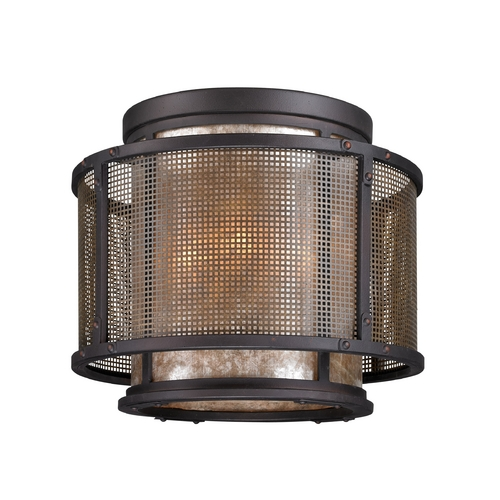 Troy Lighting Flushmount Light with Silver Mica Shades in Graphite and Silver Finish C3100