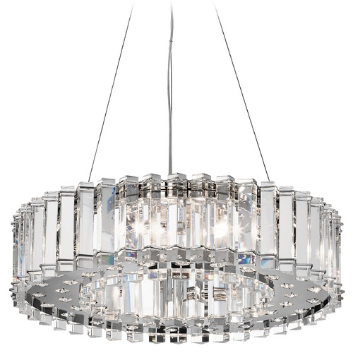 Kichler Lighting Kichler Modern Crystal Chandelier in Chrome Finish 42195CH