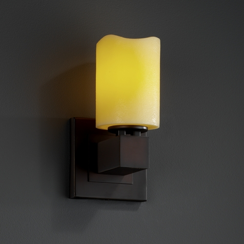Justice Design Group Justice Design Group Candlearia Collection Sconce CNDL-8705-14-AMBR-DBRZ