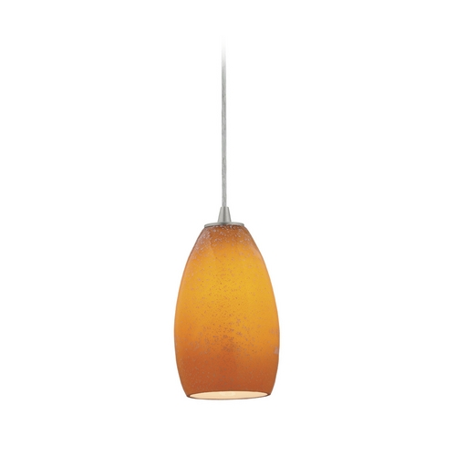 Access Lighting Modern Mini-Pendant Light with Art Glass 28012-2C-BS/MYA