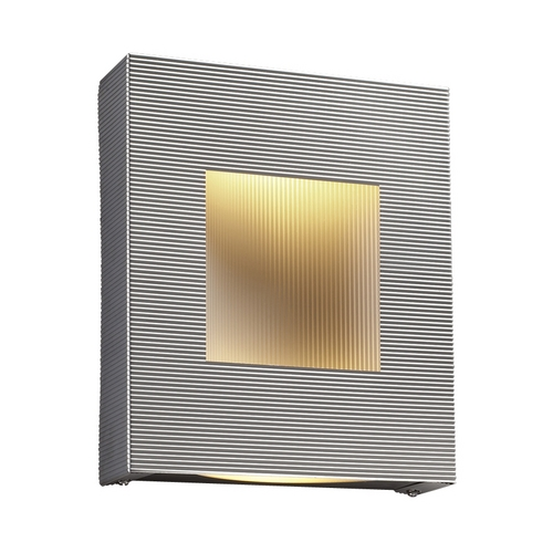 PLC Lighting Modern Sconce Wall Light with White Glass in Aluminum Finish 6412  AL