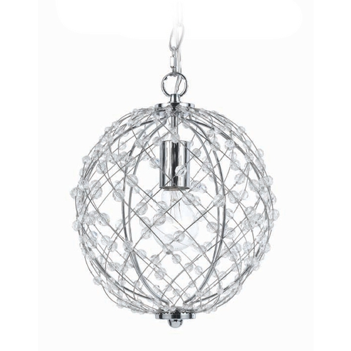 AF Lighting Silver Mini-Pendant with Swag Light Kit 8284-1H