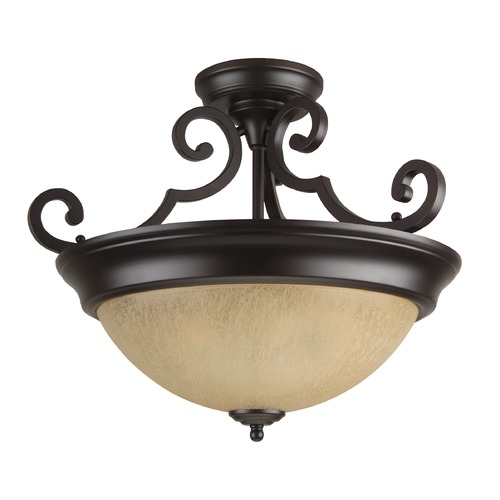 Jeremiah Lighting Jeremiah Oiled Bronze Semi-Flushmount Light X724-OB