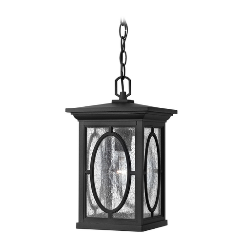 Hinkley Lighting LED Outdoor Hanging Light with Clear Glass in Black Finish 1492BK-LED
