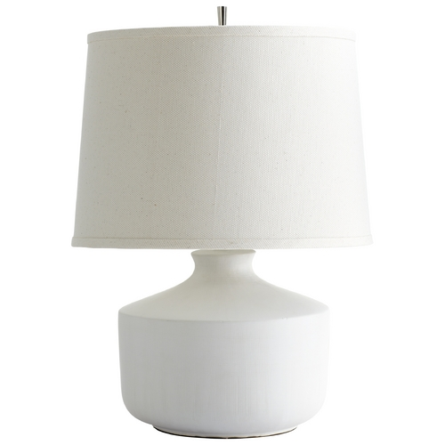 Cyan Design Cyan Design Mountain Snow White Table Lamp with Drum Shade 05892