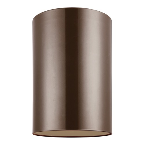 Sea Gull Lighting Sea Gull Lighting Outdoor Bullets Bronze LED Close To Ceiling Light 7813991S-10
