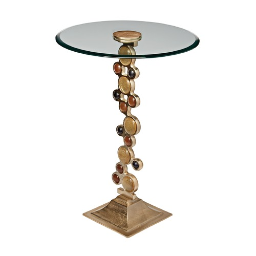 Sterling Lighting Ruby & Gold Side Table 468-017
