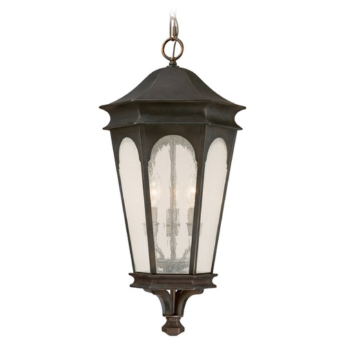 Capital Lighting Seeded Glass Outdoor Hanging Light Bronze Capital Lighting 9386OB