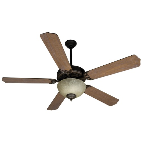 Craftmade Lighting Craftmade Pro Builder 208 Oiled Bronze Ceiling Fan with Light K10649