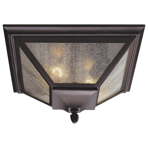 Feiss Lighting Flushmount Light with Clear Glass in Oil Rubbed Bronze Finish OL1013ORB