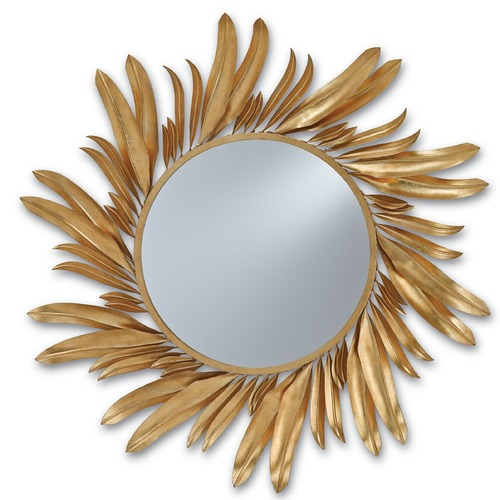 Currey and Company Lighting Folium Round 31-Inch Mirror 1108
