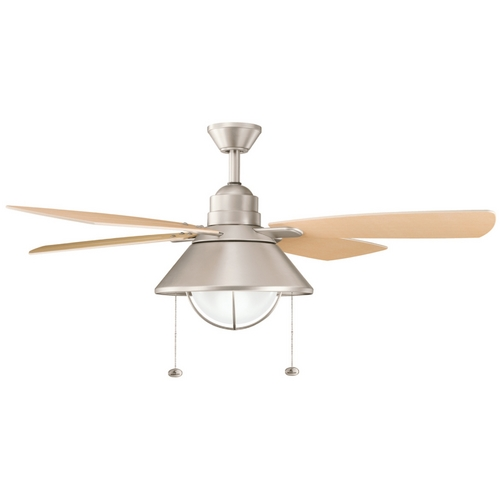 Kichler Lighting Kichler Compact Fluorescent Seaside Ceiling Fan with Light Kit 310131NI