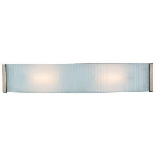 Access Lighting Modern Bathroom Light with White Glass in Brushed Steel Finish 62042-BS/CKF