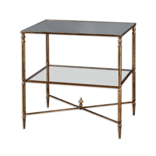 Uttermost Lighting Accent Table in Gold Leaf Finish 26120
