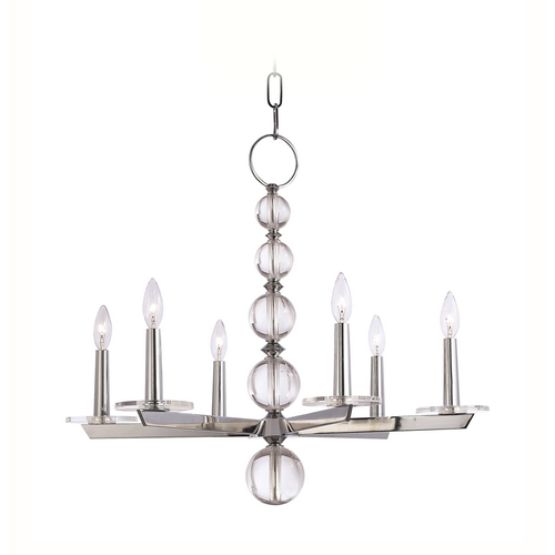Hudson Valley Lighting Chandelier in Polished Nickel Finish 316-PN