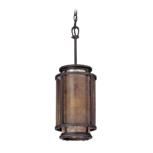 Troy Lighting Mini-Pendant Light with Silver Mica Shade F3102