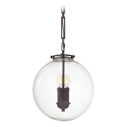 Elk Lighting Elk Lighting Gramercy Oil Rubbed Bronze Pendant Light with Globe Shade 16372/3