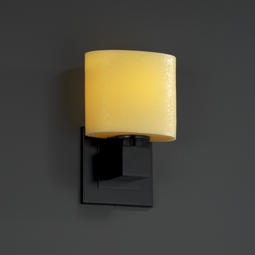 Justice Design Group Justice Design Group Candlearia Collection Sconce CNDL-8707-30-AMBR-MBLK