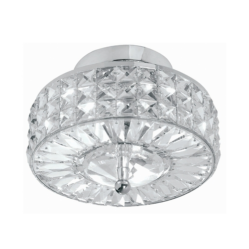 Crystorama Lighting Crystal Semi-Flushmount Light with Clear Glass in Polished Chrome Finish 809-CH-CL-MWP