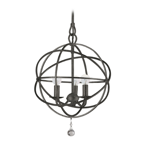 Crystorama Lighting Modern Pendant Light in English Bronze Finish 9225-EB
