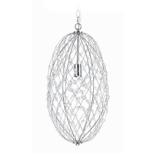AF Lighting Silver Web Pendant 8287-1H