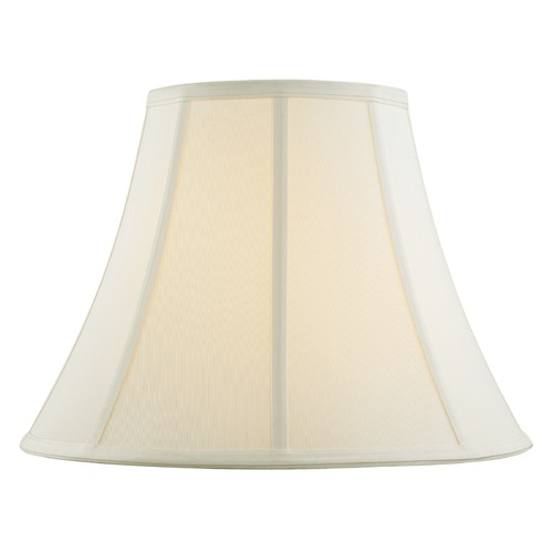 Design Classics Lighting Off White Bell Fabric Lamp Shade with Piping and Spider Assembly SH9694