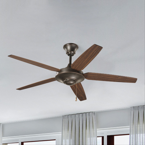 Progress Lighting Progress Ceiling Fan Without Light in Antique Bronze Finish P2530-20