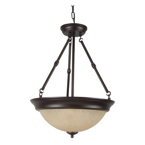 Jeremiah Lighting Jeremiah Oiled Bronze Pendant Light with Bowl / Dome Shade X725-OB
