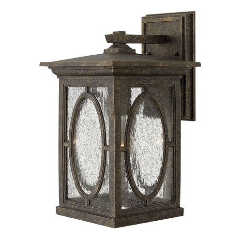 Hinkley Lighting Outdoor Wall Light with Clear Glass in Autumn Finish 1494AM-GU24