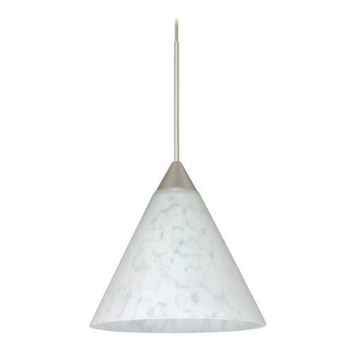 Besa Lighting Besa Lighting Kani Satin Nickel Mini-Pendant Light 1XT-512119-SN
