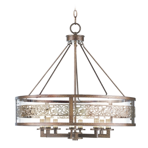 Livex Lighting Livex Lighting Waverly Palacial Bronze with Gilded Accents Pendant Light with Drum Shade 6259-64