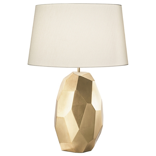 Fine Art Lamps Fine Art Lamps Recollections Gold Leaf Table Lamp with Drum Shade 825910-2ST
