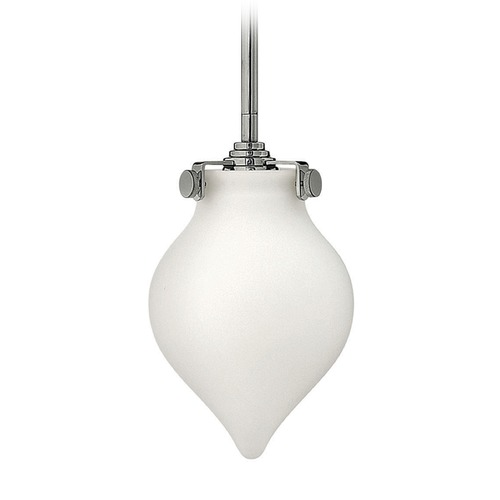 Hinkley Lighting Hinkley Lighting Congress Chrome LED Mini-Pendant Light with Urn Shade 3135CM-LED