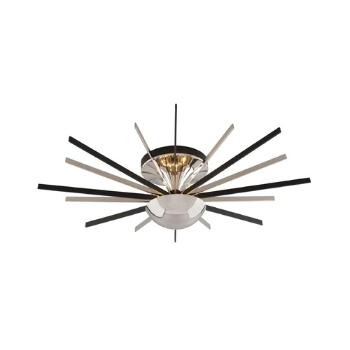 Troy Lighting Troy Lighting Atomic Polished Nickel with Matte Black LED Semi-Flushmount Light C4803