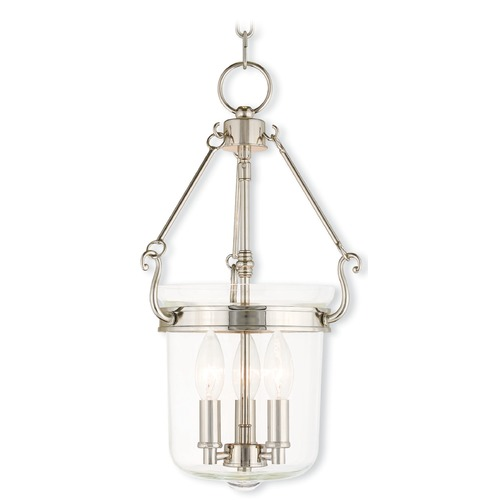 Livex Lighting Livex Lighting Rockford Polished Nickel Pendant Light with Bowl / Dome Shade 50482-35
