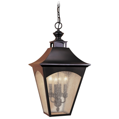 Feiss Lighting Outdoor Hanging Light with Clear Glass in Oil Rubbed Bronze Finish OL1011ORB