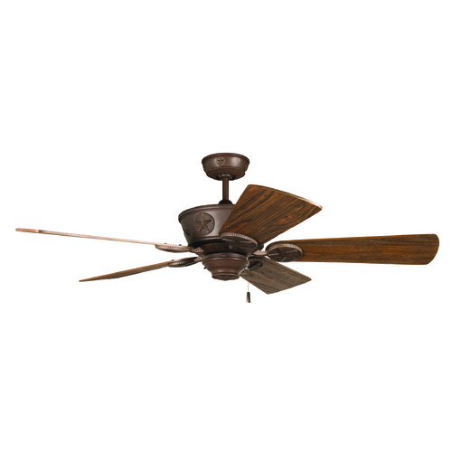 Craftmade Lighting Craftmade Lighting Chaparral Aged Bronze Textured Ceiling Fan Without Light K11216