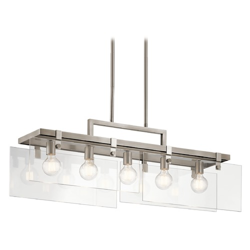 Kichler Lighting Modern Island Light Pewter Tiers by Kichler Lighting 44124CLP