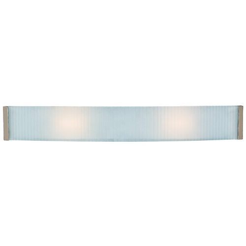 Access Lighting Modern Bathroom Light with White Glass in Brushed Steel Finish 62043-BS/CKF