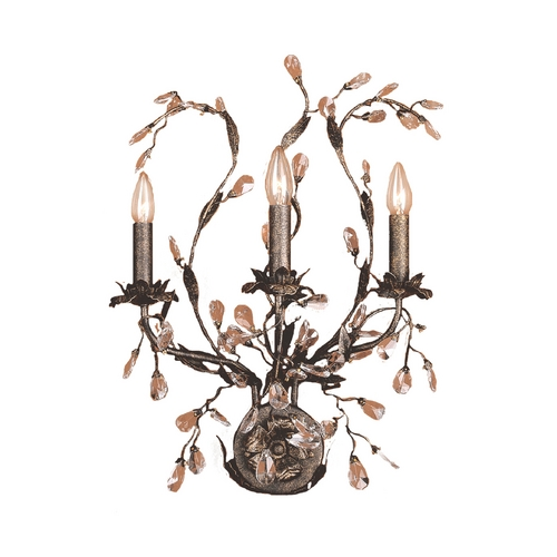 Elk Lighting Sconce Wall Light in Deep Rust Finish 8050/3