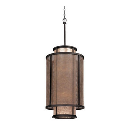 Troy Lighting Pendant Light with Silver Mica Shades in Old Silver Finish F3103