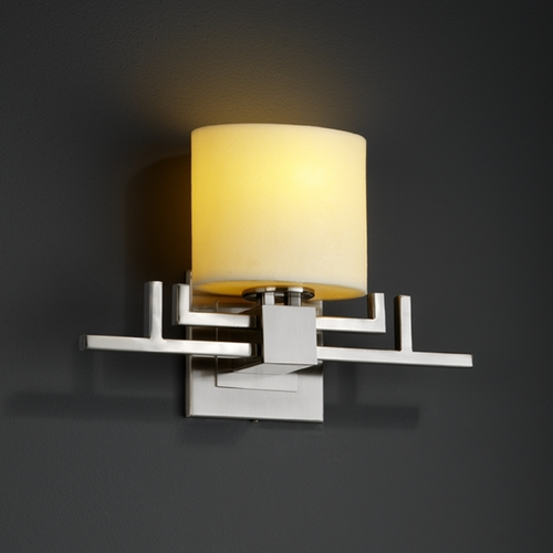 Justice Design Group Justice Design Group Candlearia Collection Sconce CNDL-8711-30-CREM-NCKL