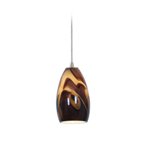 Access Lighting Modern Mini-Pendant Light with Art Glass 28012-2C-BS/ICA