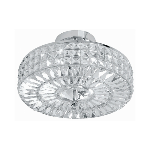 Crystorama Lighting Crystal Semi-Flushmount Light with Clear Cage Shades in Polished Chrome Finish 814-CH-CL-MWP